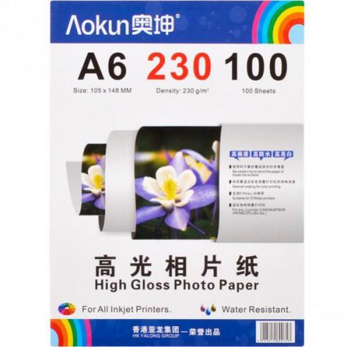 Фотобумага А6 100л, 230г/м2, глянцевая