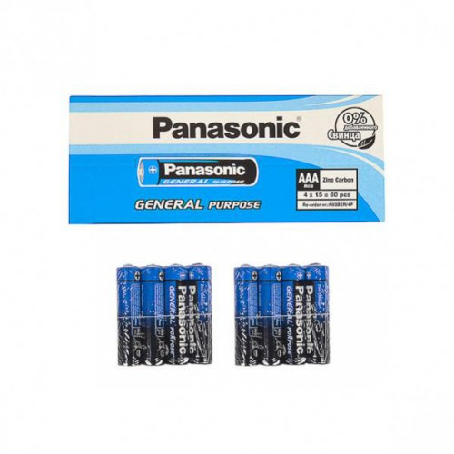 Батарейка Panasonic АAА R03BER General Purpose 1,5V, тип zinc carbon