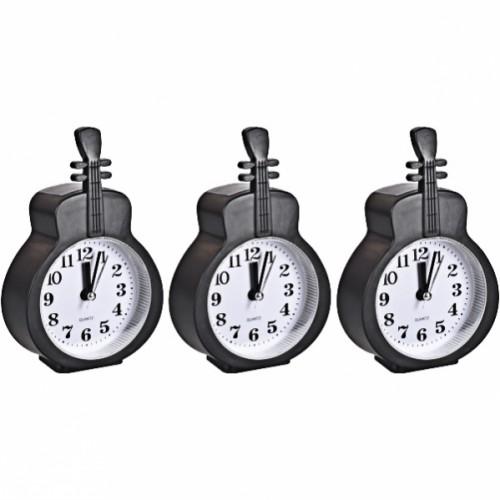 Настольные часы - будильник «Гитара черная» 15*9,5*3,5см