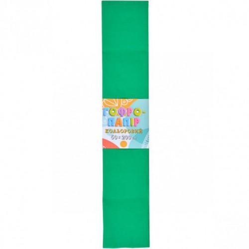 Гофрированная бумага 50*200см, темно-зеленый, 17г/м2 20%