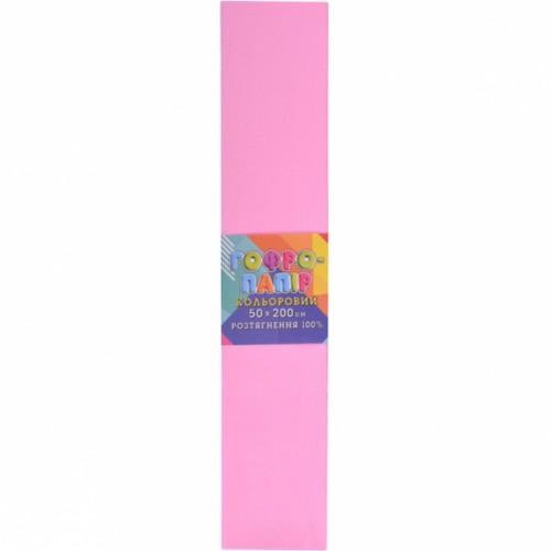 Гофрированная бумага 50*200см, светло-розовая, 20г/м2 100%