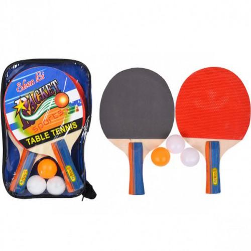 Набор для настольного тенниса «ShenLi» 2 ракетки+3 шарика в чехле