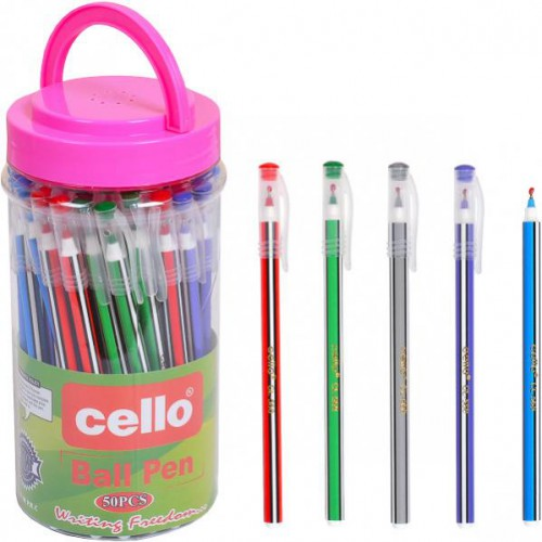 """Ручка шариковая на масляной основе 13,5см, 0,7мм, синяя """"Cello"""""""