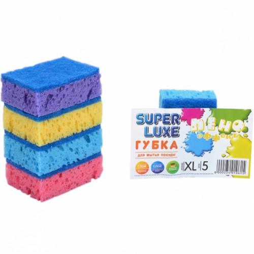Губка для мытья посуды XL «Пено Эффект» Super Lux, 9*6*3см