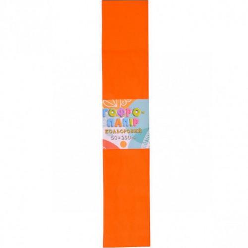 Гофрированная бумага 50*200см, оранжевый, 17г/м2 20%