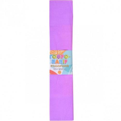 Гофрированная бумага 50*200см, фиолетовый, 17г/м2 20%