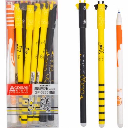 """Ручка гелевая """"пишет-стирает"""" """"Пчелка"""", 0,35мм, синяя"""