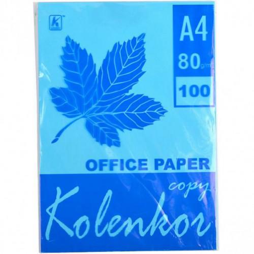 Бумага для ксерокса А4 100л, 80 г/м2 Насыщенная голубая