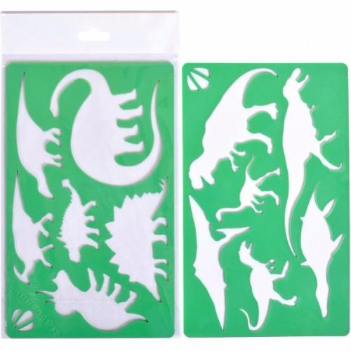 Набор из 2-х трафаретов «Динозавры , 13*13см