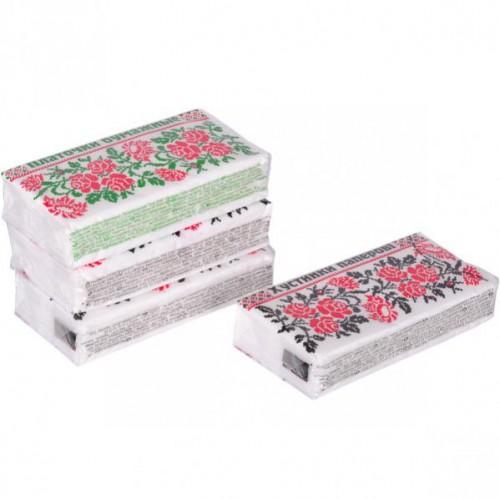 Салфетки-платочки бумажные 20*19см, однослойные