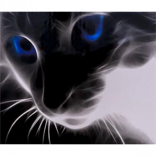 """Алмазная живопись 40*50см """"Взгляд кота"""" 9+"""