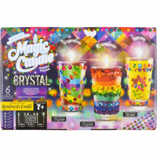 Набор парафиновые свечи с кристаллами «Crystal Candle» 7+