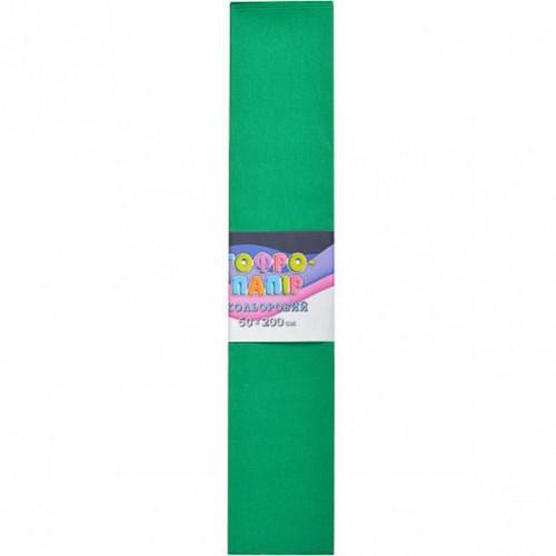 Гофрированная бумага 50*200см, темно-зеленый, 17г/м2 75%