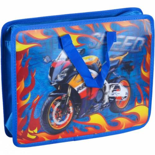 """Портфель - папка детская 3D """"Мотоцикл"""" 33*26,5*8,5см"""