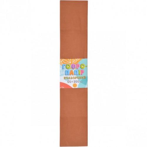 Гофрированная бумага 50*200см, светло-коричневый, 17г/м2 20%