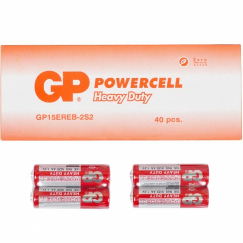 Батарейки пальчиковые Alkaline GP-15ERЕВ-2S2 по 2шт R6 AA