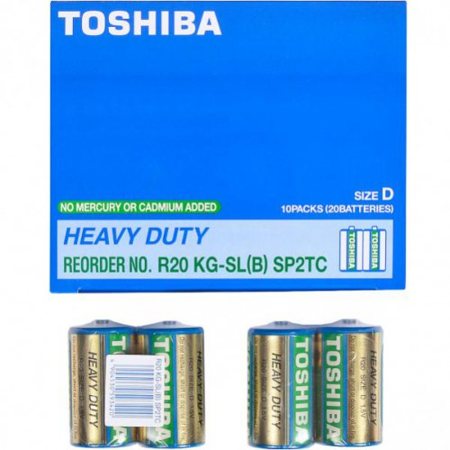 Батарейка Toshiba R20 KG-SL (B) SP2 TC