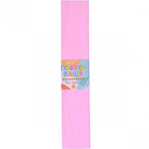 Гофрированная бумага 50*200см, светло-розовый, 17г/м2 20%
