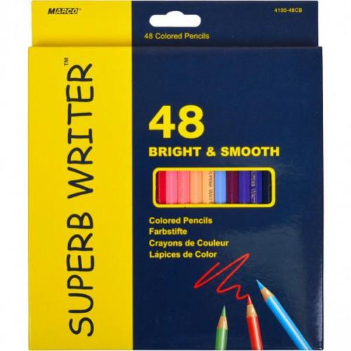 Набор цветных карандашей 48цв серия Superb Writer MARCO