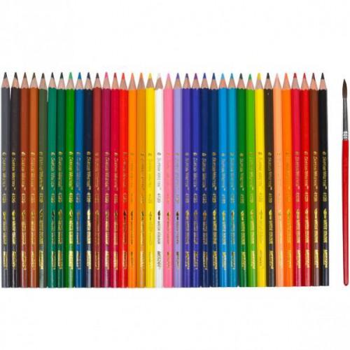 Набор акварельных цветных карандашей 36цв серия Superb Writer MARCO