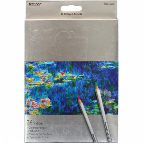 Набор цветных карандашей 36цв серия Raffine MARCO