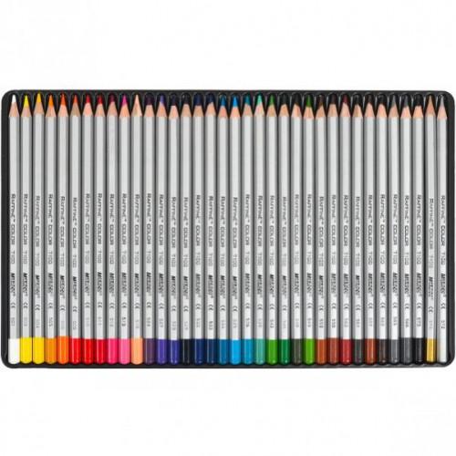 Набор цветных карандашей 36цв в метал.пенале серия Raffine MARCO