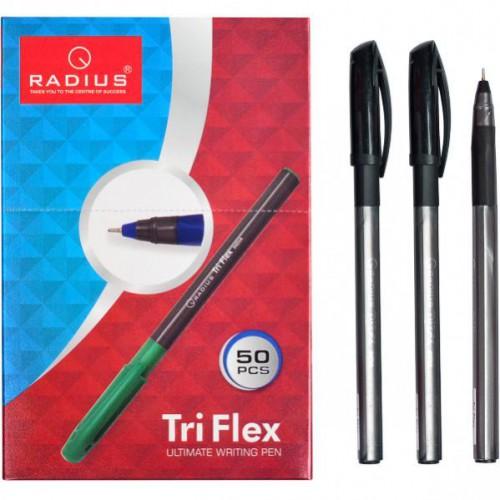 """Ручка шариковая на масляной основе """"TriFlex"""" 0.7мм, черная """"Radius"""""""