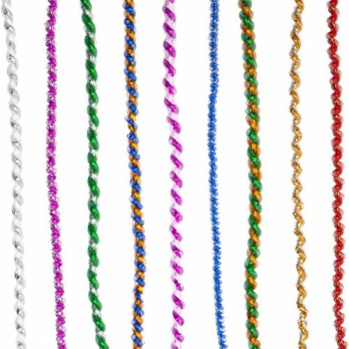 """Мишура """"Фонарик спиральный 2хцветный"""" Ø 1,5см, 1,3м (в связке 10лент=одного цвета)"""