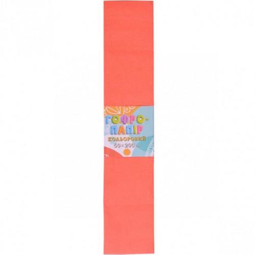 Гофрированная бумага 50*200см, персиковый, 17г/м2 20%