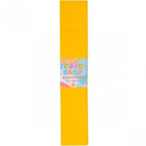 Гофрированная бумага 50*200см, темно-желтый, 17г/м2 20%