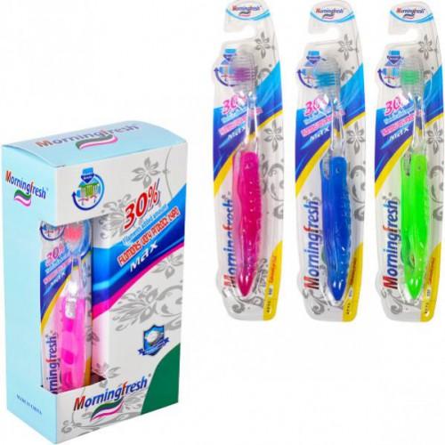 Зубная щетка «Morningfresh» дорожная, складная, 18,5см