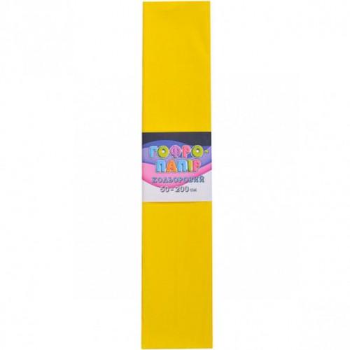 Гофрированная бумага 50*200см, желтый, 17г/м2 75%
