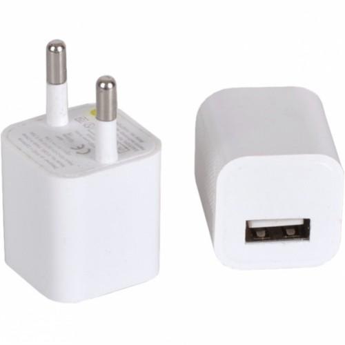 Сетевой USB адаптер 1.0 А (9-квадрат), 2,8*2,5*2,5см