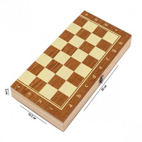 Шахматы деревянные 3 в 1 30см