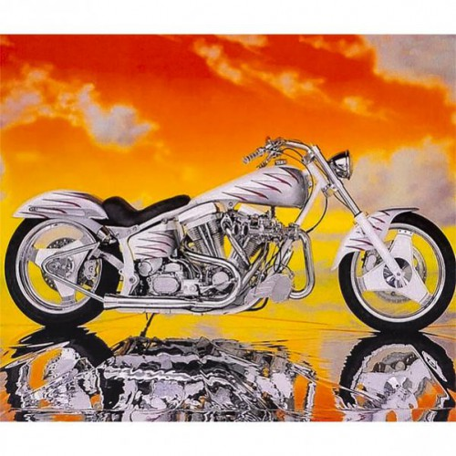 "Картина по номерам ""Мотоцикл"" 40*50см"