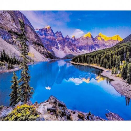 """Алмазная живопись 30*40см """"Природа - горы, озеро"""" 9+"""