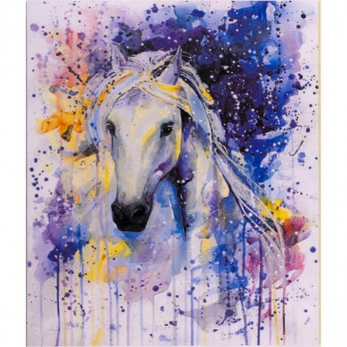 """Картина по номерам """"Белая лошадь"""" 40*50см"""