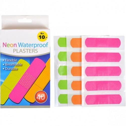 """Пластырь""""Neon Waterproof"""" 7,2*1,9мм (40шт)"""