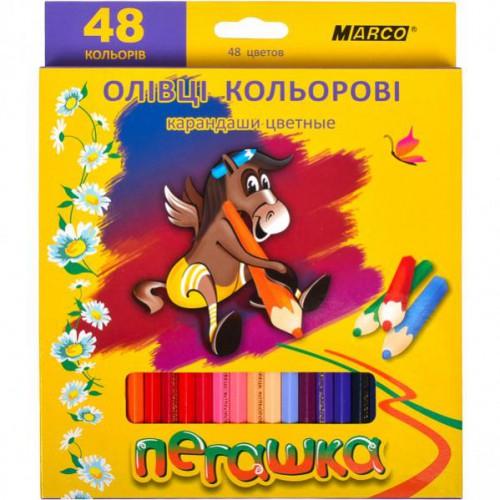 """Набор цветных карандашей 48цв серия Пегашка """"Marco"""""""
