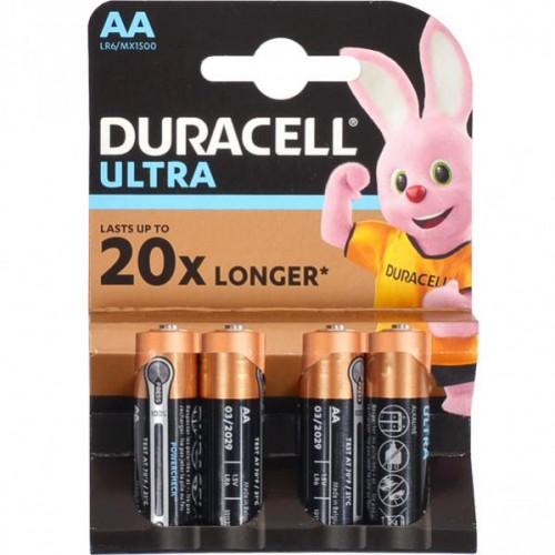 Батарейка Duracell Ultra LR-06 АА по 4шт на блистере, 1,5V с индикатором заряда