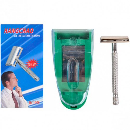Станок для бритья классический, Т-образный металлический 9,5см