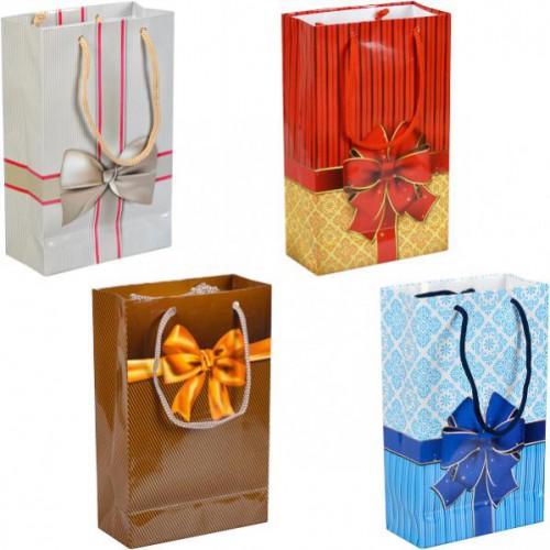 """Пакет подарочный малый """"Бант"""" 11*18*5см"""