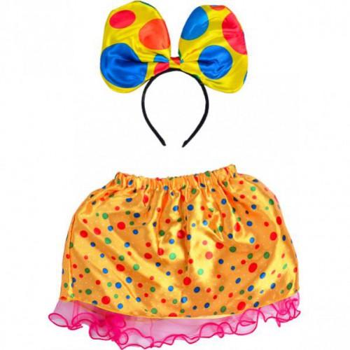 """Набор карнавальный """"Желтый в горох"""" (фатиновая юбка 25см + ободок с бантом) 3+"""