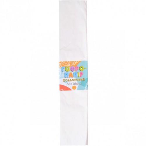 Гофрированная бумага 50*200см, белый, 17г/м2 20%