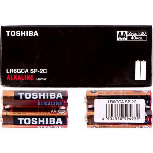 Батарейка Toshiba LR6 GCA SP-2C Economy Alkaline 1,5V, не содержит ртути и кадмия