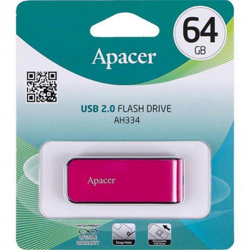Флешка Apacer USB 64Gb AH334 Pink