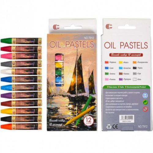 Восковые карандаши 12цв., 7,5*0,9см OIL PASTELS «С»