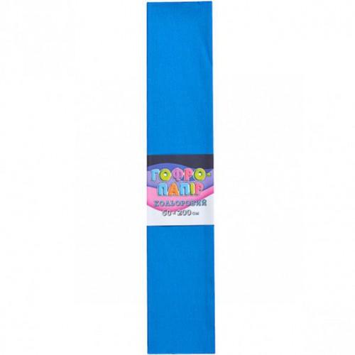 Гофрированная бумага 50*200см, синий, 17г/м2 75%