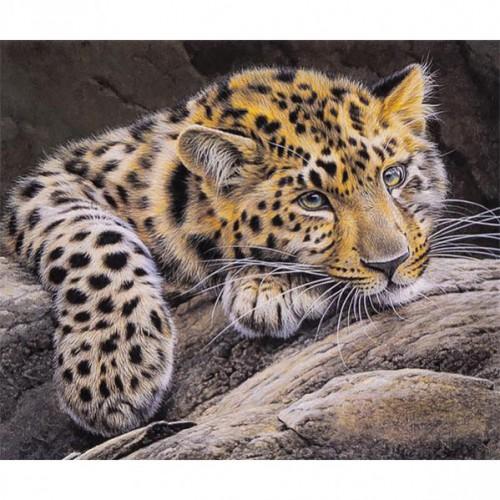 """Алмазная живопись 30*40см """"Леопард"""" 9+"""