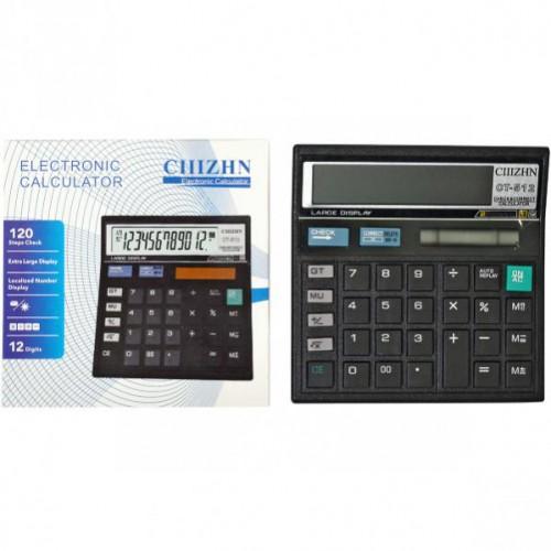 Калькулятор настольный  13*13*2см (12 функций/ 2 источника энергии)